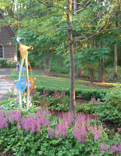Wisconsin native planting landscaping services developed a creative relaxing retreat