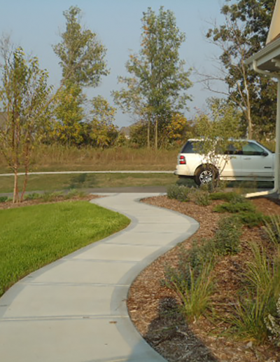 residential landscaping example of lawn and garden care
